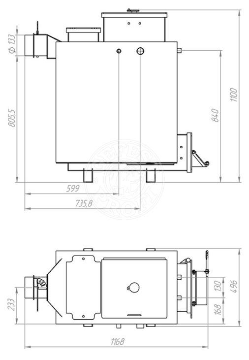 Твердопаливний котел Gefest-Profi Z 12 кВт. Фото 3
