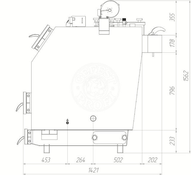 Твердотопливный котел Gefest-Profi S 40 кВт. Фото 3