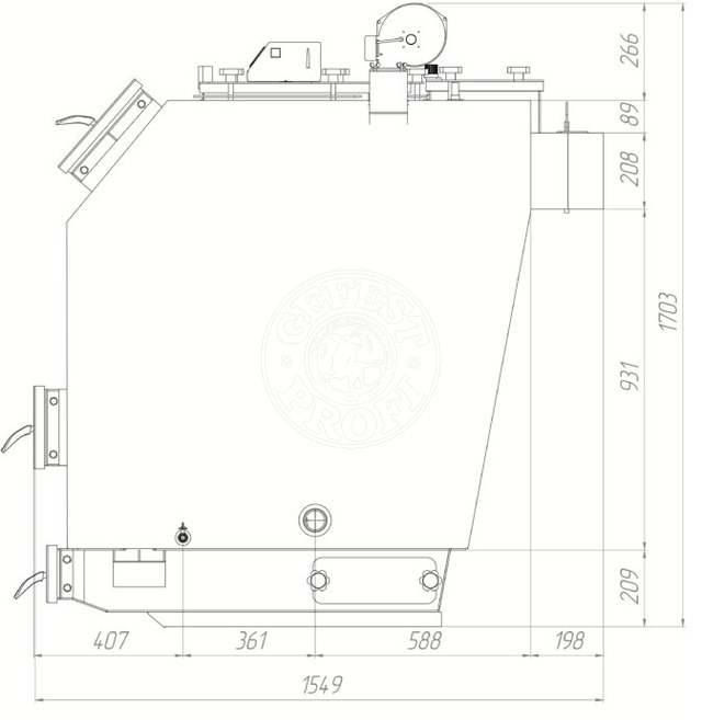 Твердотопливный котел Gefest-Profi S 60 кВт. Фото 3