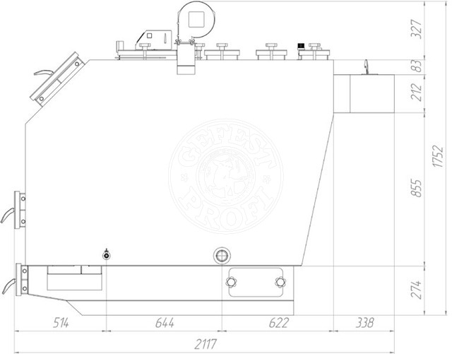 Твердопаливний котел Gefest-Profi S 120 кВт. Фото 5