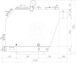 Твердопаливний котел Gefest-Profi S 180 кВт. Фото 4