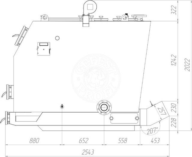 Твердопаливний котел Gefest-Profi S 300 кВт. Фото 3