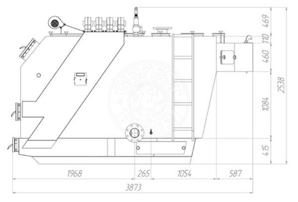 Твердотопливный котел Gefest-Profi S 1150 кВт. Фото 3