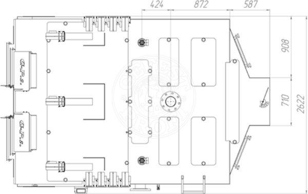 Твердотопливный котел Gefest-Profi S 1150 кВт. Фото 2