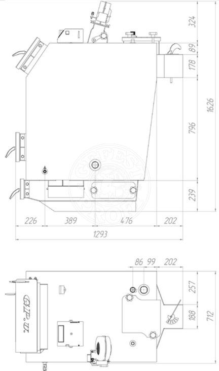 Твердотопливный котел Gefest-Profi U 40 кВт. Фото 2