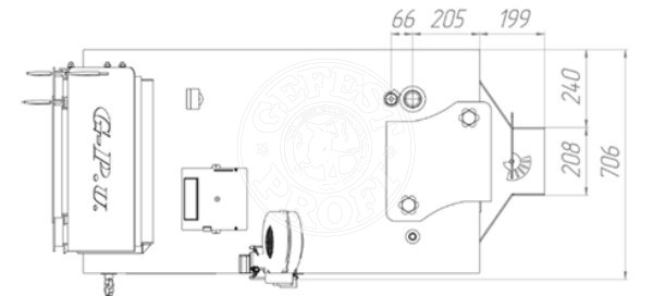 Твердотопливный котел Gefest-Profi U 50 кВт. Фото 2