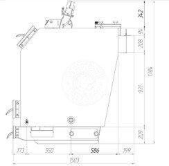 Твердотопливный котел Gefest-Profi U 50 кВт. Фото 3