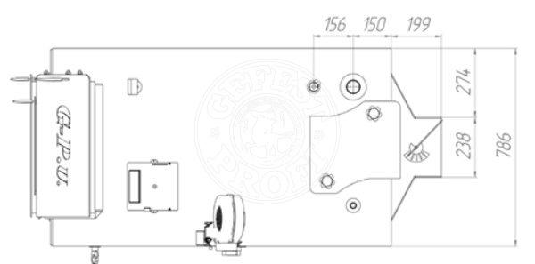 Твердопаливний котел Gefest-Profi U 70 кВт. Фото 3