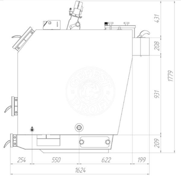 Твердотопливный котел Gefest-Profi U 70 кВт. Фото 2