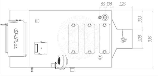 Твердотопливный котел Gefest-Profi U 98 кВт. Фото 3