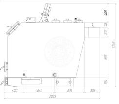 Твердотопливный котел Gefest-Profi U 98 кВт. Фото 4