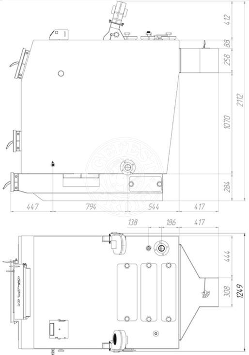 Твердотопливный котел Gefest-Profi U 250 кВт. Фото 2