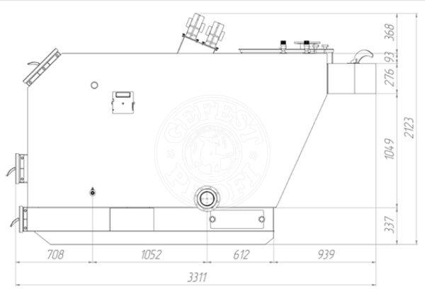 Твердотопливный котел Gefest-Profi U 600 кВт. Фото 2