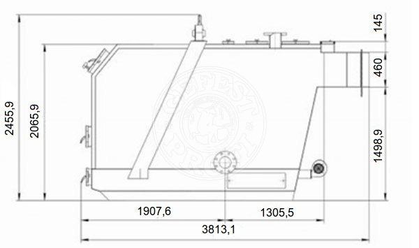 Твердотопливный котел Gefest-Profi U 1000 кВт. Фото 2