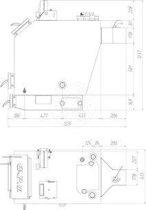 Твердотопливный котел Gefest-Profi V 38 кВт. Фото 2