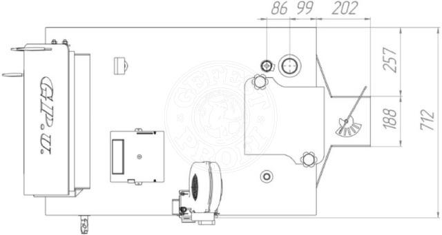 Твердотопливный котел Gefest-Profi V 55 кВт. Фото 3