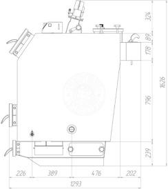 Твердотопливный котел Gefest-Profi V 55 кВт. Фото 2