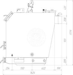 Твердотопливный котел Gefest-Profi V 85 кВт. Фото 2
