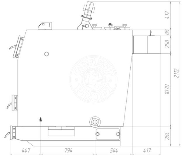 Твердотопливный котел Gefest-Profi V 350 кВт. Фото 3