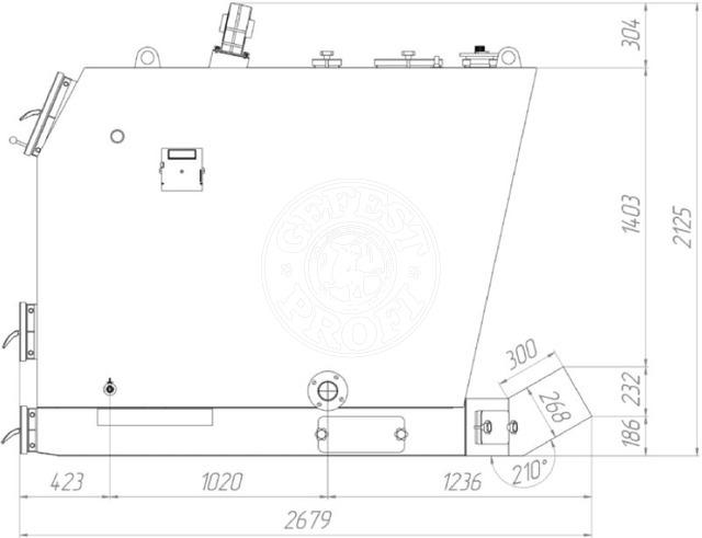 Твердотопливный котел Gefest-Profi V 750 кВт. Фото 2