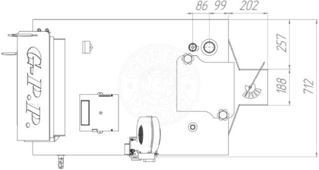 Твердотопливный котел Gefest-Profi P 50 кВт. Фото 2