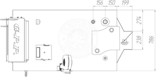 Твердопаливний котел Gefest-Profi P 80 кВт. Фото 2