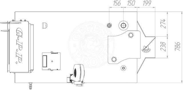 Твердотопливный котел Gefest-Profi P 80 кВт. Фото 2