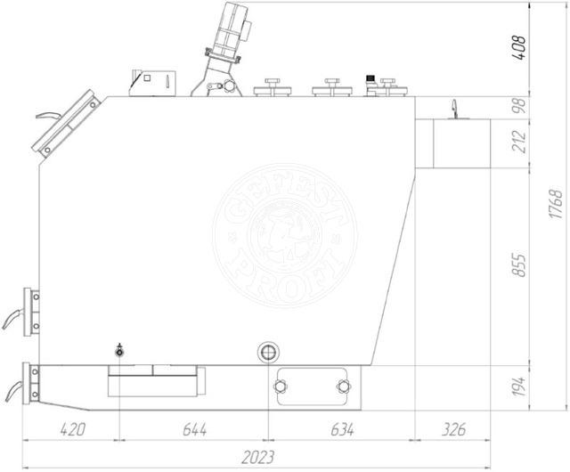 Твердотопливный котел Gefest-Profi P 100 кВт. Фото 3
