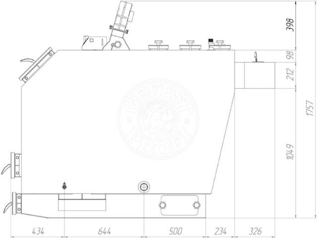 Твердотопливный котел Gefest-Profi P 200 кВт. Фото 2
