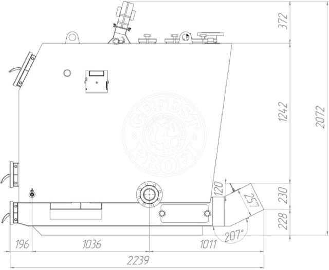 Твердотопливный котел Gefest-Profi P 500 кВт. Фото 3