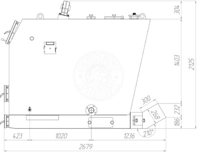 Твердотопливный котел Gefest-Profi P 750 кВт. Фото 2