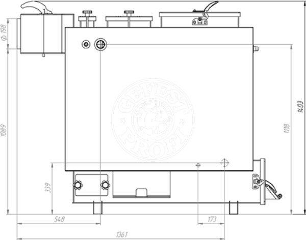Твердотопливный котел Gefest-Profi Z 32 кВт. Фото 3