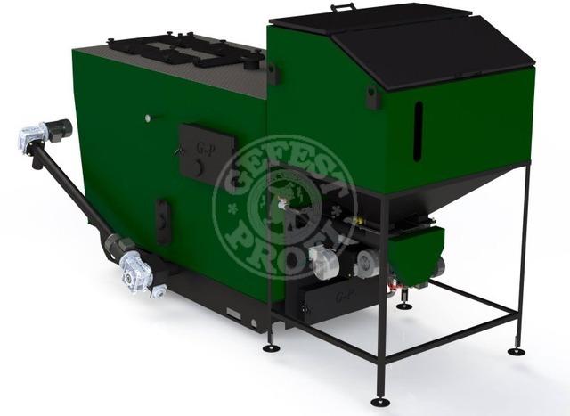 Автоматизированный комплекс Gefest-Profi A 80 кВт для всех видов пеллеты