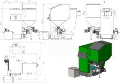 Автоматизированный комплекс Gefest-Profi A 80 кВт для всех видов пеллеты. Фото 3