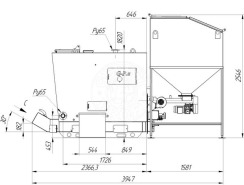 Автоматизований комплекс Gefest-Profi A 200 кВт для всіх видів пелети. Фото 3