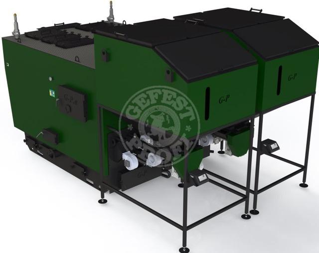 Автоматизированный комплекс Gefest-Profi A 900 кВт для всех видов пеллеты