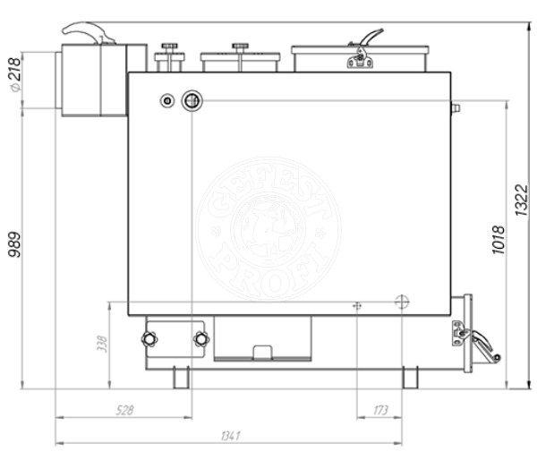 Твердопаливний котел Gefest-Profi Z 42 кВт. Фото 3