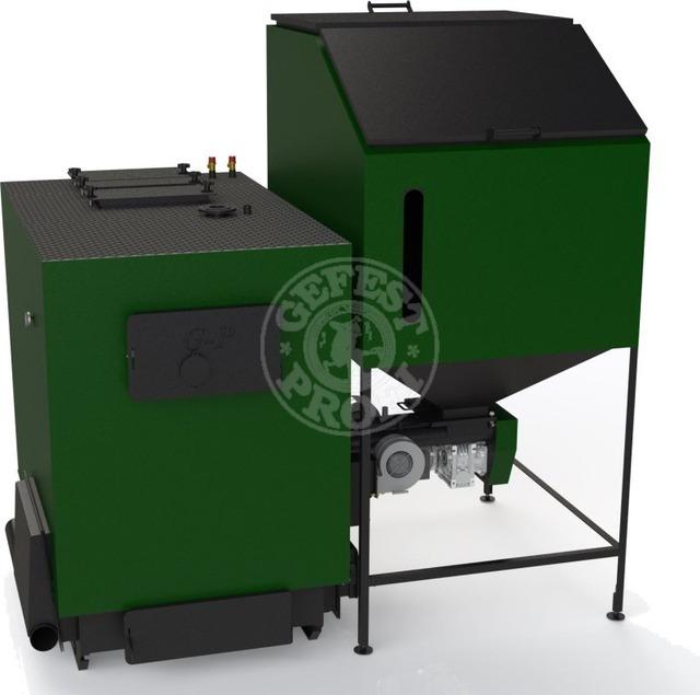 Автоматизований комплекс Gefest-Profi A 120 кВт для пелети з малою зольністю