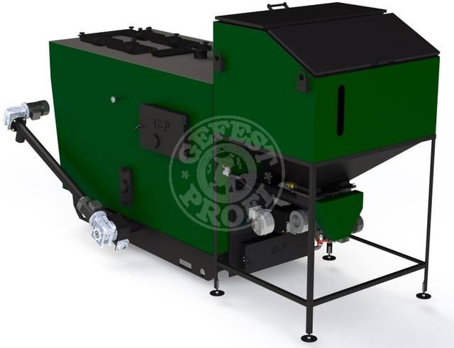 Автоматизированный комплекс Gefest-Profi A 120 кВт для пеллеты с малой зольностью. Фото 2