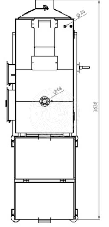 Автоматизированный комплекс Gefest-Profi A 150 кВт для пеллеты с малой зольностью. Фото 5