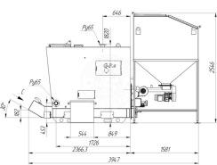 Автоматизированный комплекс Gefest-Profi A 200 кВт для пеллеты с малой зольностью. Фото 4