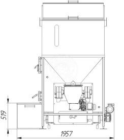 Автоматизированный комплекс Gefest-Profi A 200 кВт для пеллеты с малой зольностью. Фото 5