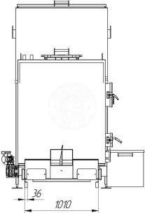 Автоматизированный комплекс Gefest-Profi A 200 кВт для пеллеты с малой зольностью. Фото 6