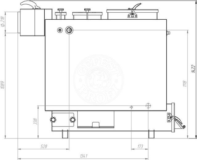 Твердопаливний котел Gefest-Profi Z 48 кВт. Фото 3