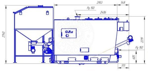 Автоматизований комплекс Gefest-Profi A 800 кВт для пелети з малою зольністю. Фото 6